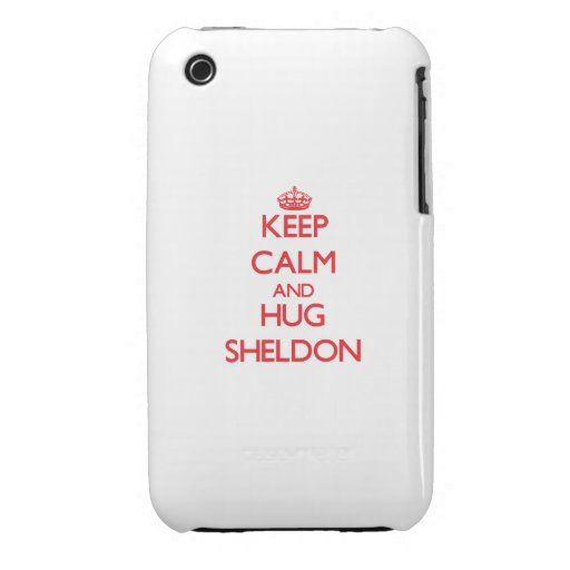 Keep Calm and HUG Sheldon iPhone 3 Case-Mate Cases