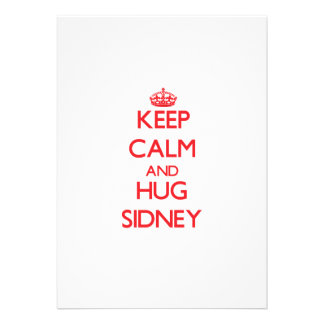 Keep Calm and Hug Sidney Personalized Announcement