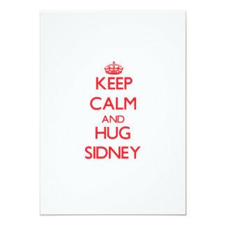 Keep Calm and Hug Sidney 13 Cm X 18 Cm Invitation Card