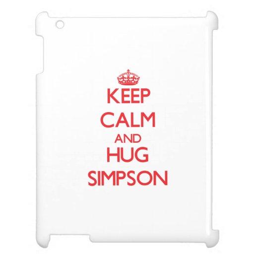 Keep calm and Hug Simpson Cover For The iPad