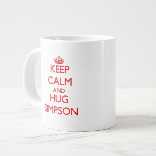 Keep calm and Hug Simpson Jumbo Mug