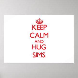 Keep calm and Hug Sims Print