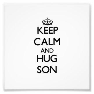 Keep Calm and Hug Son Photo