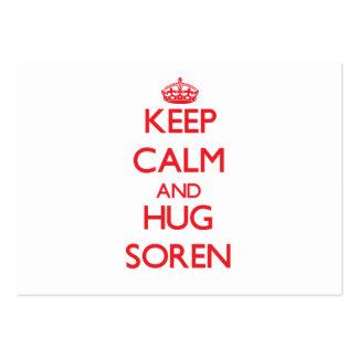 Keep Calm and HUG Soren Business Card Template