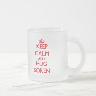 Keep Calm and HUG Soren Frosted Glass Mug