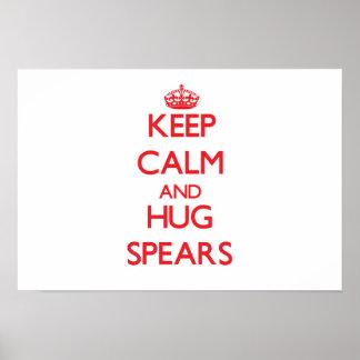 Keep calm and Hug Spears Print