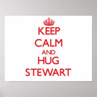 Keep calm and Hug Stewart Print
