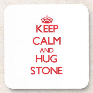 Keep calm and Hug Stone Coasters
