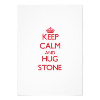 Keep calm and Hug Stone Invitations