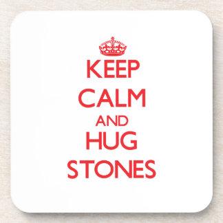 Keep calm and Hug Stones Coaster