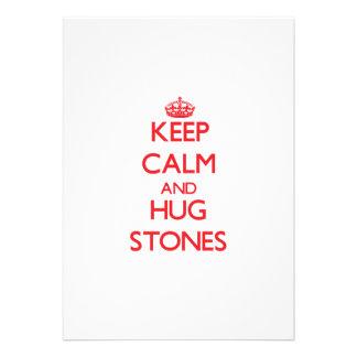 Keep calm and Hug Stones Custom Invite