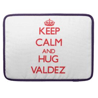 Keep calm and Hug Valdez Sleeve For MacBook Pro
