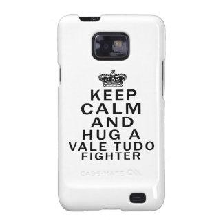 Keep Calm And Hug Vale Tudo Fighter Samsung Galaxy SII Covers
