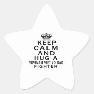 Keep Calm And Hug Vovinam Viet vo Dao Fighter Star Sticker