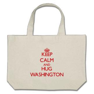 Keep calm and Hug Washington Canvas Bag