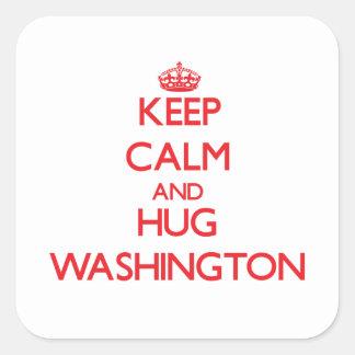 Keep calm and Hug Washington Sticker