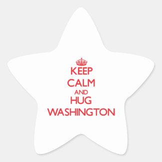 Keep calm and Hug Washington Stickers