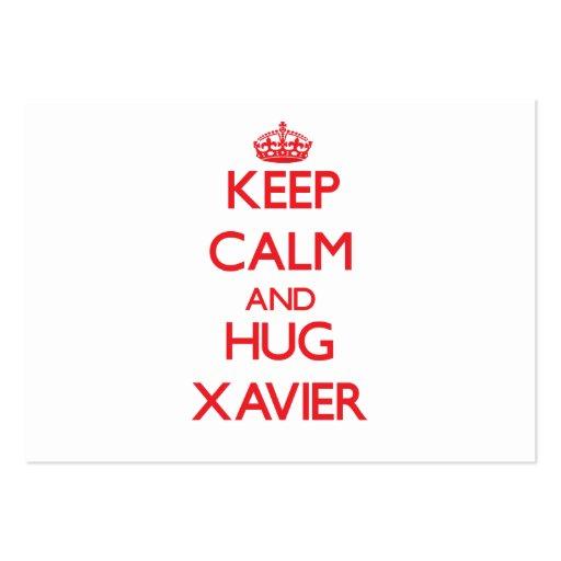 Keep Calm and HUG Xavier Business Cards