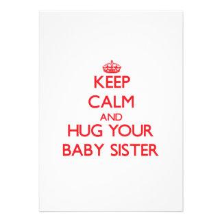 Keep Calm and HUG your Baby Sister Cards