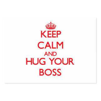Keep Calm and HUG your Boss Business Card Templates