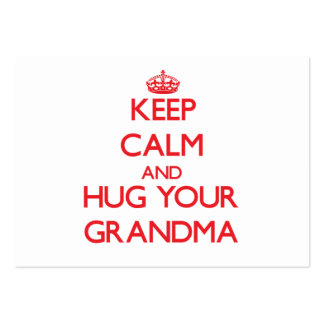 Keep Calm and HUG  your Grandma Pack Of Chubby Business Cards