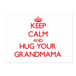 Keep Calm and HUG  your Grandmama Pack Of Chubby Business Cards