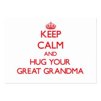 Keep Calm and HUG your Great Grandma Business Cards