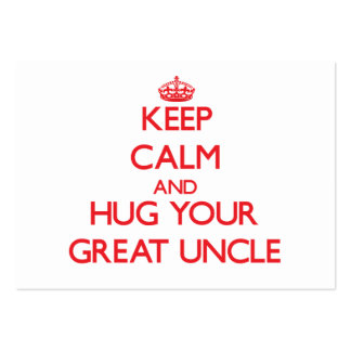 Keep Calm and HUG  your Great Uncle Pack Of Chubby Business Cards