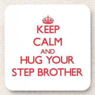 Keep Calm and HUG your Step-Brother Coaster