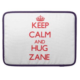 Keep Calm and HUG Zane MacBook Pro Sleeve
