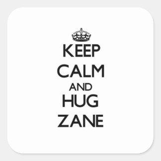 Keep Calm and Hug Zane Sticker
