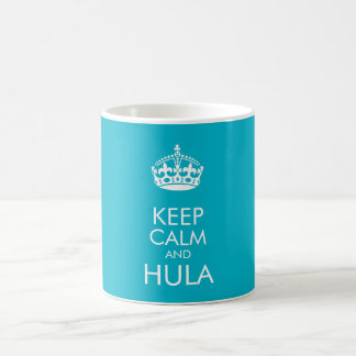 Keep calm and hula - change background colour coffee mug