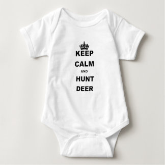 KEEP CALM AND HUNT DEER.png Baby Bodysuit