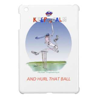 keep calm and hurl that ball, tony fernandes iPad mini cover