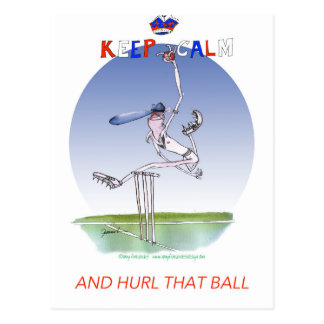 keep calm and hurl that ball, tony fernandes postcard