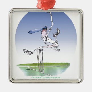 keep calm and hurl that ball, tony fernandes Silver-Colored square decoration