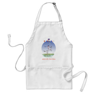 keep calm and hurl that ball, tony fernandes standard apron