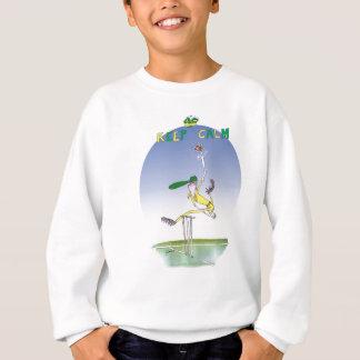 keep calm and hurl the ball, tony fernandes sweatshirt