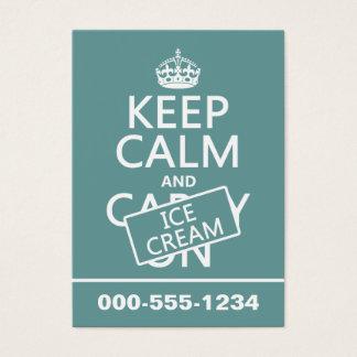 Keep Calm and Ice Cream Business Card