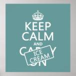Keep Calm and Ice Cream (icecream) (any colour)