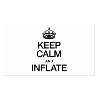 KEEP CALM AND INFLATE PACK OF STANDARD BUSINESS CARDS