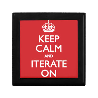 Keep calm and iterate on prydnadslåda