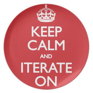 Keep calm and iterate on fest tallrikar