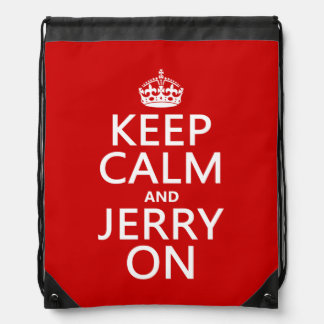 Keep Calm and Jerry On Backpacks