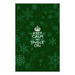 Keep Calm And Jingle On Green