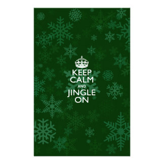 Keep Calm And Jingle On Green 14 Cm X 21.5 Cm Flyer