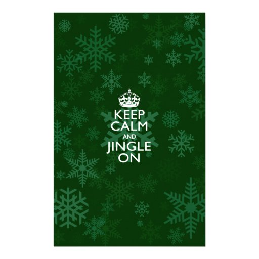Keep Calm And Jingle On Green Personalized Flyer