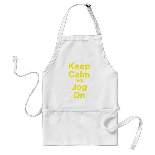 Keep Calm and Jog On Apron