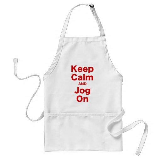Keep Calm and Jog On Aprons