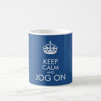 Keep calm and jog on - change background colour coffee mug